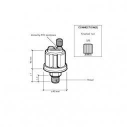 VDO 360-081-029-010K Sensore Pressione 10 Bar - M10
