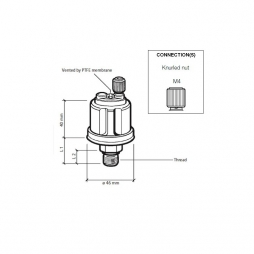 VDO Pressure sender 0-10 Bar - M10