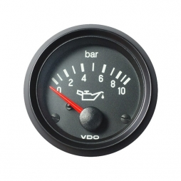 VDO Cockpit International® 350-040-004G, Engine Oil Pressure 0-10 Bar, Ø52mm 24V