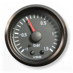 VDO Cockpit International®150-035-001G Pressure gauge -1 tot 1.5Bar 52mm